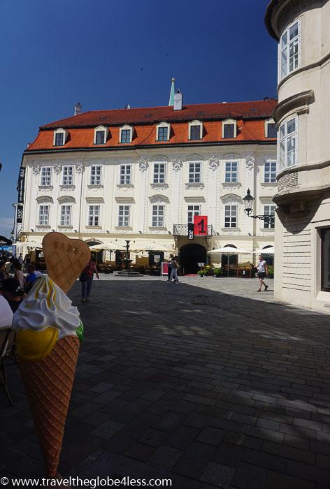 Bratislava ice cream parlour