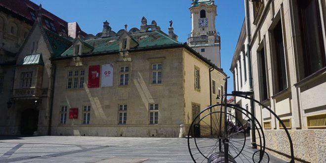 Bratislava museum and square
