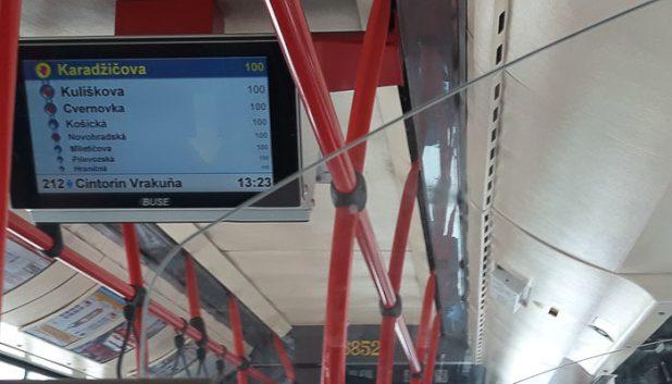 Bratislava bus information screens
