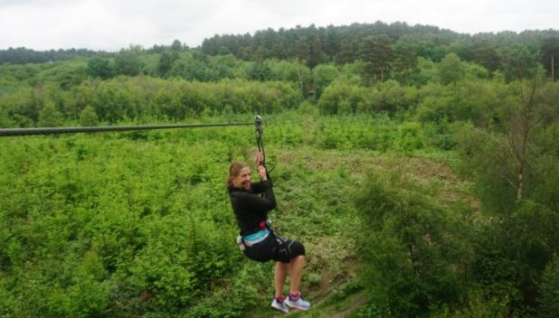 riding the zipwire