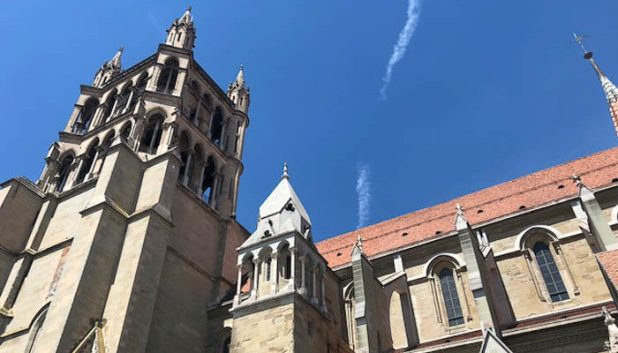 Lausanne Cathedral from the exterior
