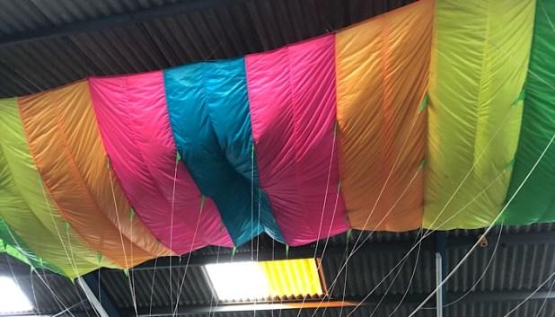 indoor skydiving training area