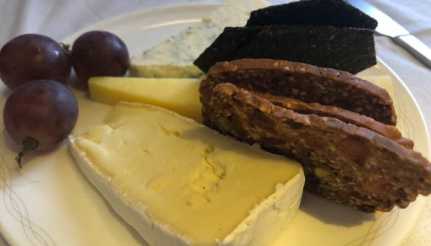 British Airways First Class cheese plate