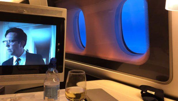 British Airways First Class seat area