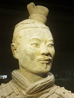 Terracotta Warriors Exhibition Hall warrior face
