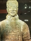 Terracotta Warriors Exhibition Hall warrior smiling