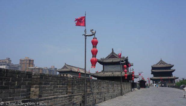 Xian city walls top