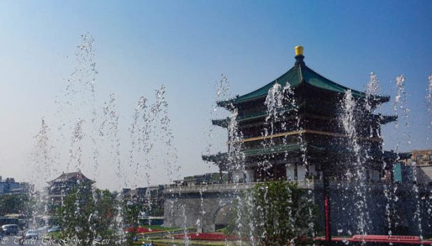 Xian Bell Tower by day
