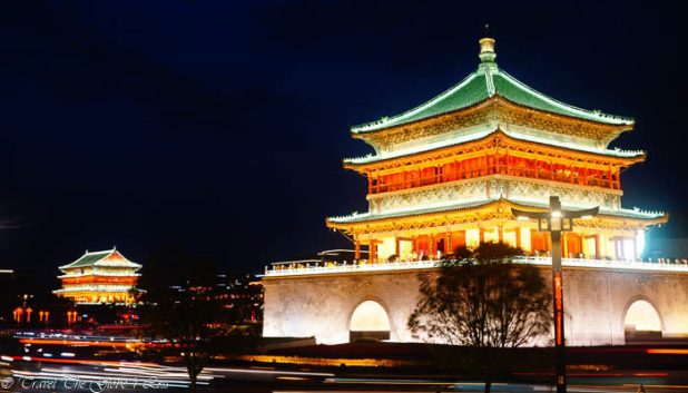 Bell Tower by night, Xian