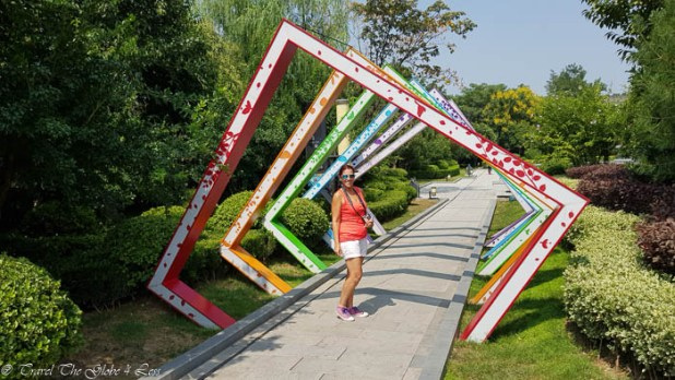 Xian City walls gardens