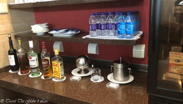 Bar area in BJS Beijing First Class lounge