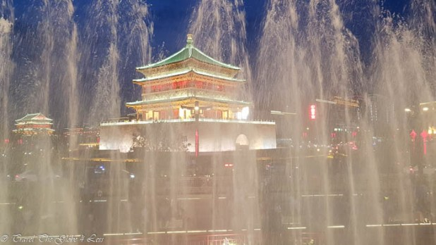 Xian Bell Tower by night