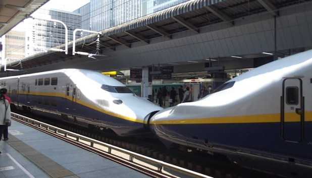 Bullet trains in Japan