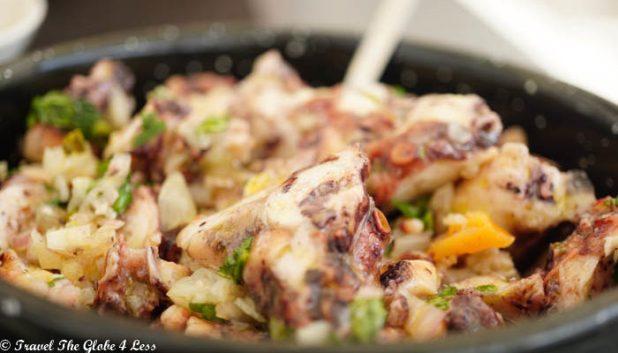 Octopus salad at Ministerium