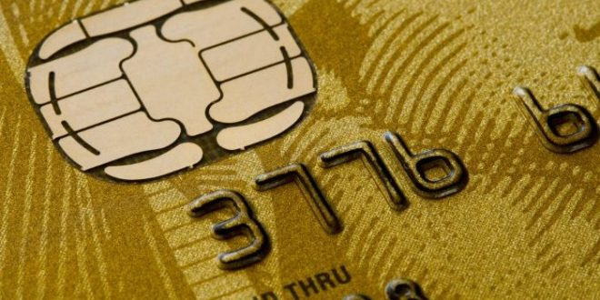 AMEX gold card close up