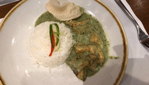Thai curry in Cathay Pacific lounge