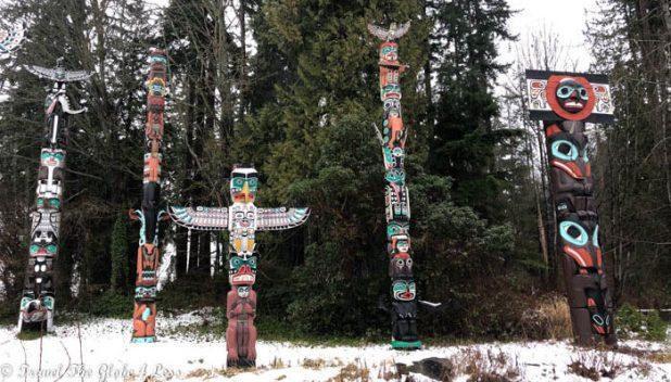 Stanley Island Totem poles