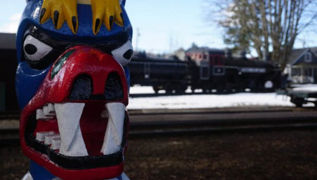 Totem pole and Railroad Museum, Snoqualmie