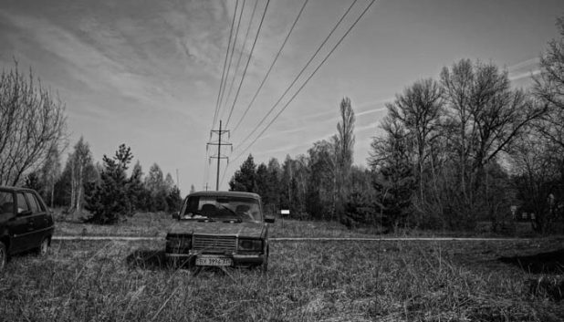 Entrance to the Chernobyl exclusion zone