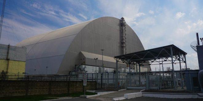 The Chernobyl sarcophagus