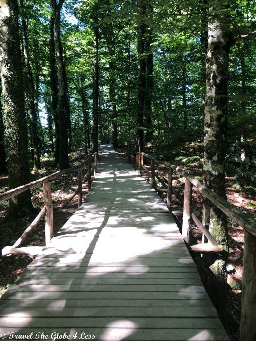 boardwalk at Plitvice Lakes