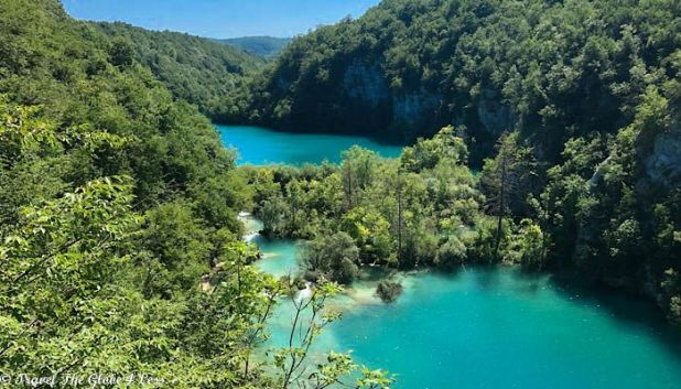 PLitvice lakes from high