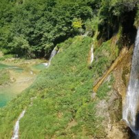 Views of Plitvice waterfalls