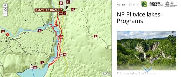 Plitvice Lakes trails