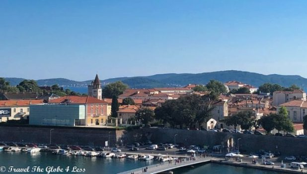 Views of Zadar old town from our Airbnb