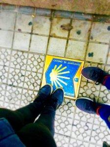 I nostri piedini su una tappa del Cammino