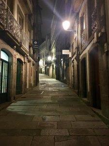 strada notte santiago de compostela