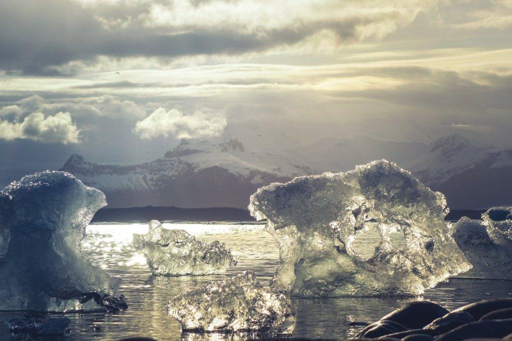iceberg che si sciolgono artico