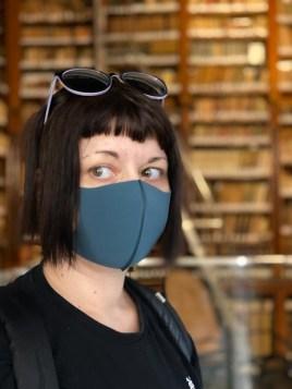 Marzia con Pitta Mask Il mio viaggio in Giappone traveltherapists blog giappone elina e marzia blogger miglior blog di viaggio