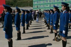 sfilata donne militari corea del nord
