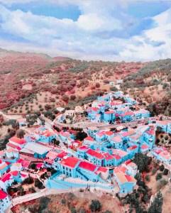 juzcar paese blu andalusia spagna statua villaggio dei puffi i puffi 3d traveltherapists