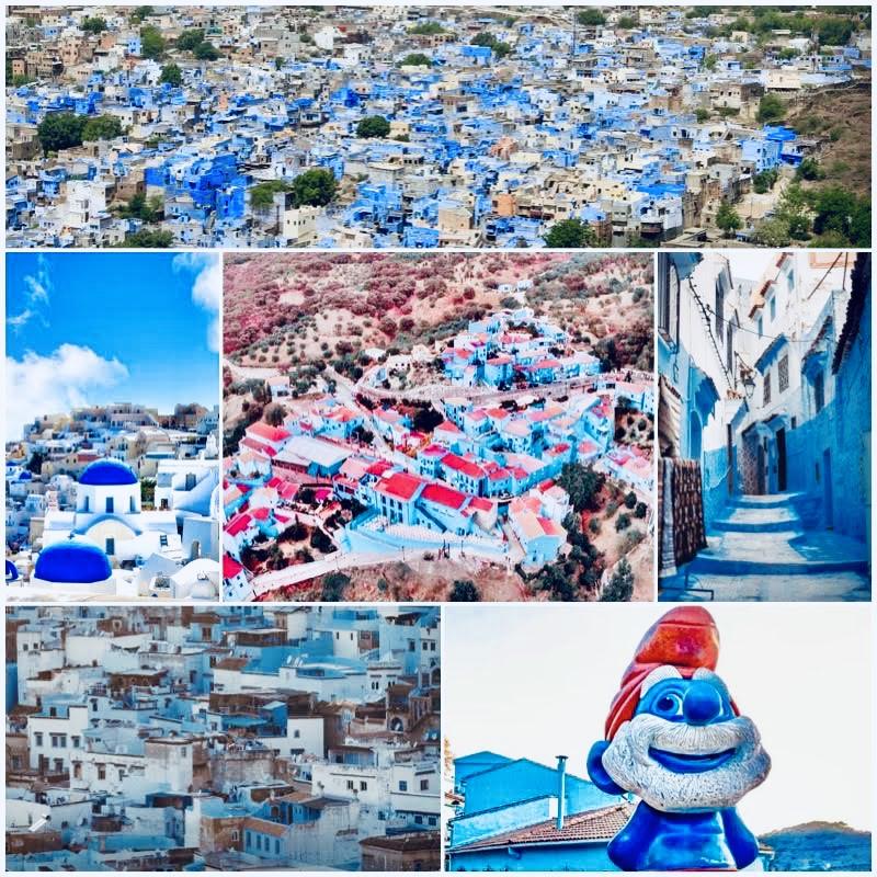 5 città blu nel mondo: paesaggi urbani di Marocco India Spagna Grecia e Tunisia