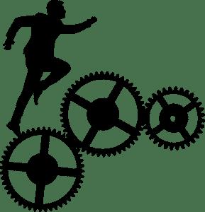 uomo sale su ingranaggi produttività traveltherapists orologi sale