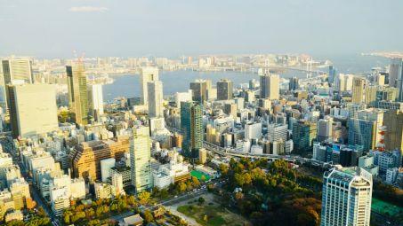 La baia di Tokyo vista dalla Tokyo Tower il mio viaggio in giappone traveltherapists
