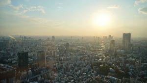 tramonto dalla Tokyo Tower il mio viaggio in giappone traveltherapists