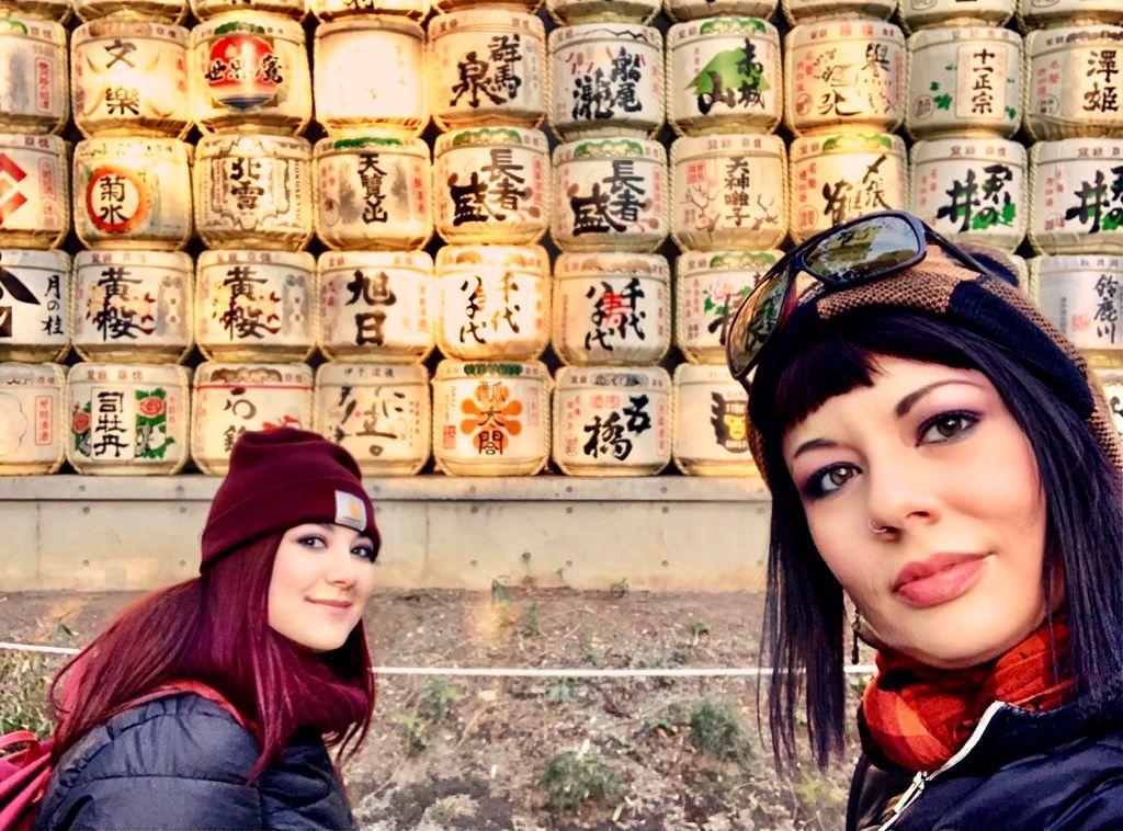 Elina e Marzia al Meiji Jingu