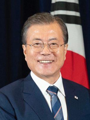 Il presidente sudcoreano Moon Jae in
