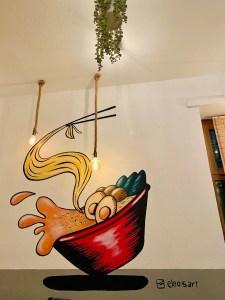 decorazioni parete elina ramen bar akira ramen deluxe il mio viaggio in giappone traveltherapists
