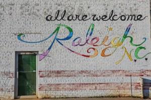 Raleigh-Murals welcome