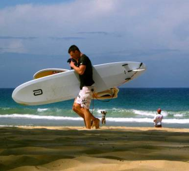 Surfers at Manly Beach - Sydney, NSW, Australia