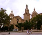 Palau Nacional -or National Palace, home of the MNAC Museum - MONTJUIC