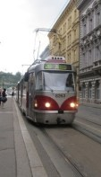 Prague trams - easy to travel on