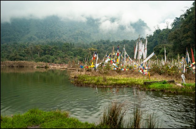 Prayer Flag at Khecheopalri Lake, Sikkim, India