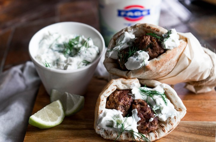 Meatballs with Yogurt Tzatziki Sauce