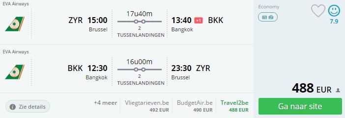 Brussel - Bangkok