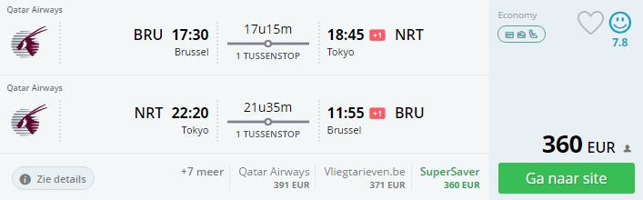 Goedkope vluchten naar Tokio vanaf Brussel